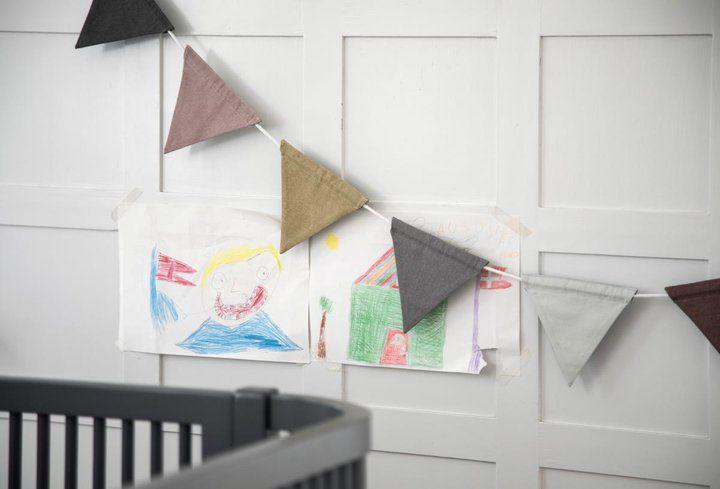 Vimpel barnrum dov pastell, Sebra Interiör