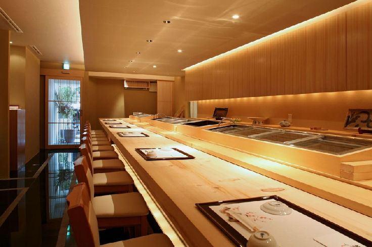 "LSD design co., ltd. ""Yumesushi""/2008/sushi bar/Okinawa, Japan/interior and facade design counter, louver, wood, Japanese"