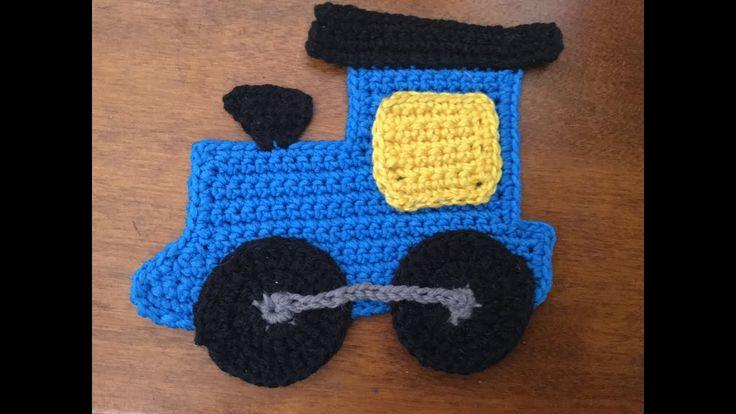 How to crochet a train applique (Part 1)