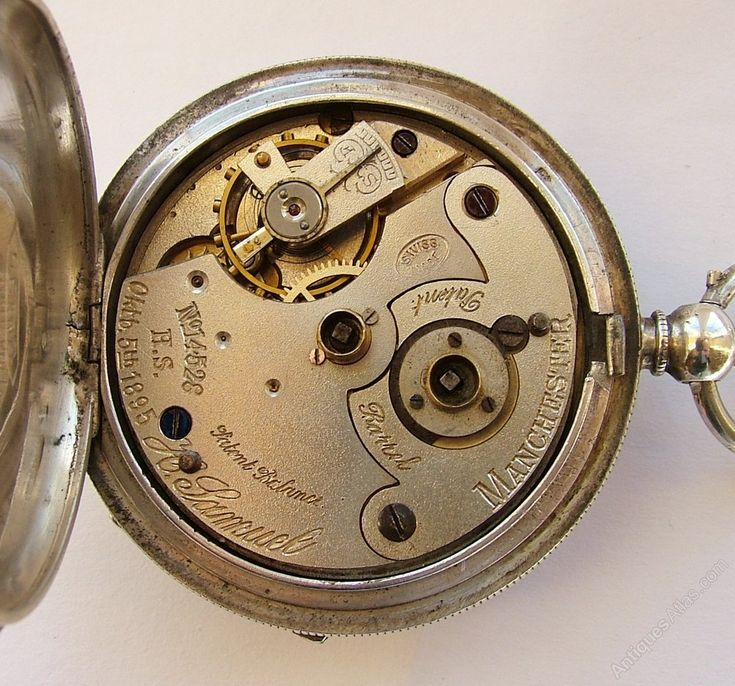 Antiques Atlas - 1920s Silver H Samuel Pocket Watch & Chain