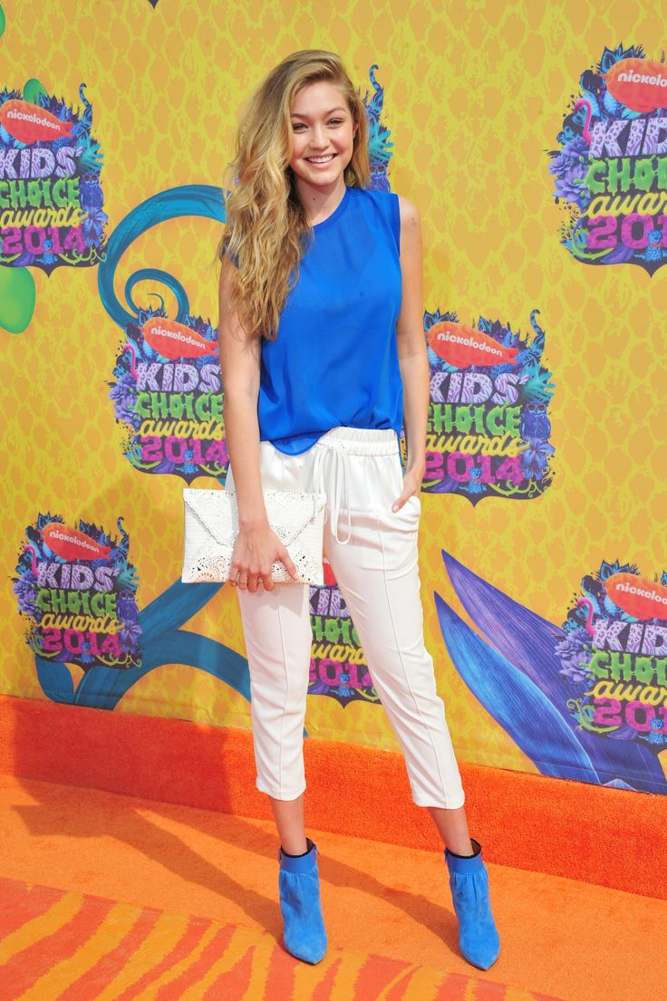 Gigi Hadid's best red carpet and street style looks: Nickelodeon's 27th Annual Kids' Choice Awards at USC Galen Center in Los Angeles, March 2014