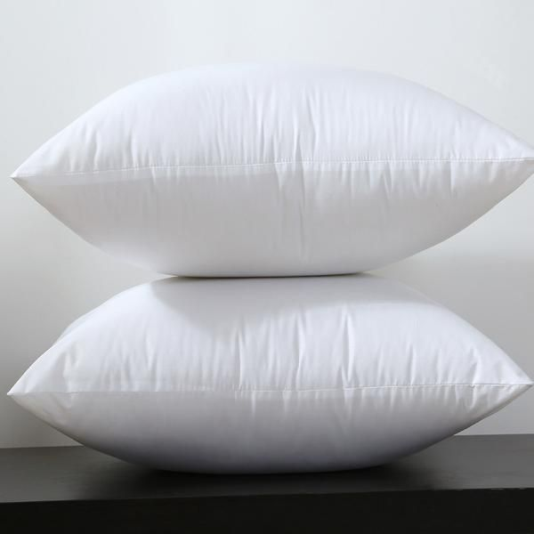 Square White Fabric Cushion Insert for 45x45cm