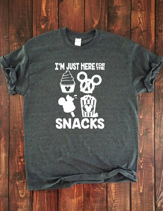 f8103255f I'm Just Here for the Snacks, Adult Disney Shirt, Family Disney T, Short  Sleeve Disney Shirt, Mickey Food, Disney Dole Whip T {VERTICAL} | Cool  Disney Stuff ...