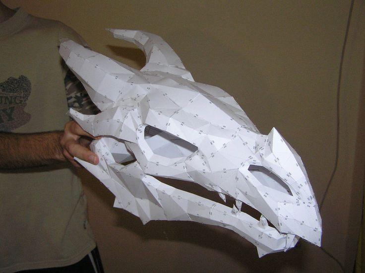 PEPAKURA - Skyrim dragon skull 2 by distressfasirt.deviantart.com on @DeviantArt