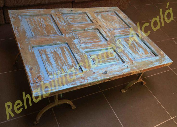 Reciclando puertas. Mesa de centro. DIY
