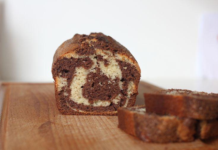 Cake marbré au yaourt {sans gluten} #gateausansgluten #sansgluten #chocolat