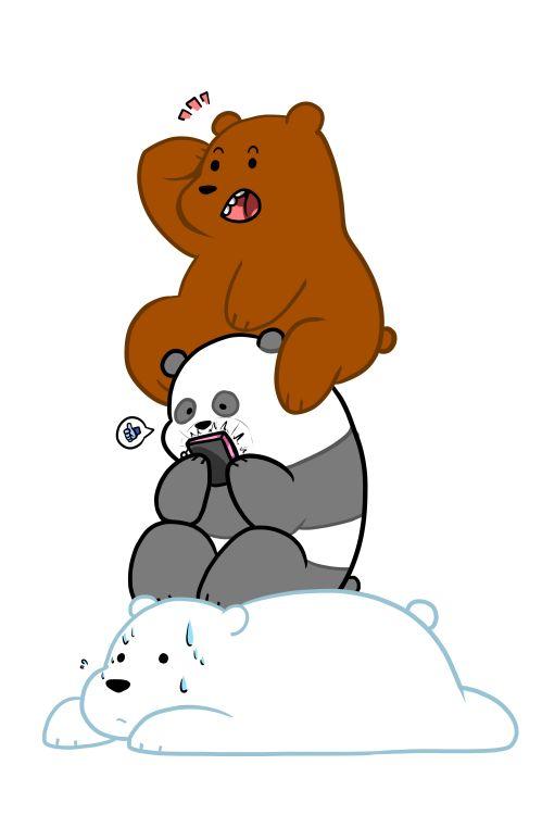 """We Bare Bears Grizzly """"Grizz"""", Panda, Ice Bear หมีกร"""