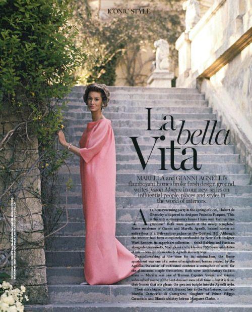 Marella Agnelli  diana  Fashion Vogue living Vogue
