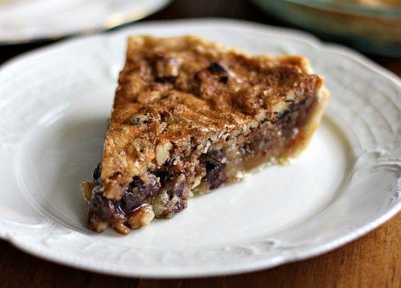 Chocolate-Pecan-Bourbon Pie