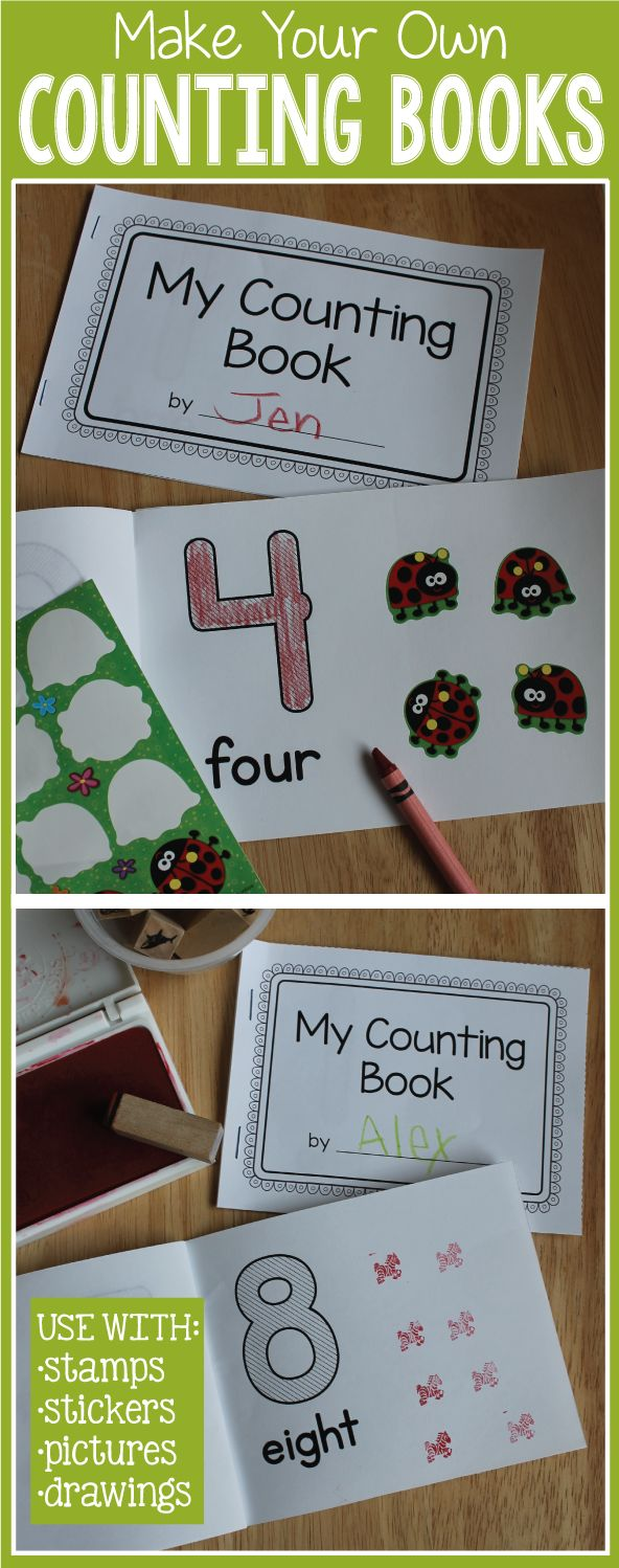 How To Make A Book Kindergarten : Best ideas about number on pinterest anchor