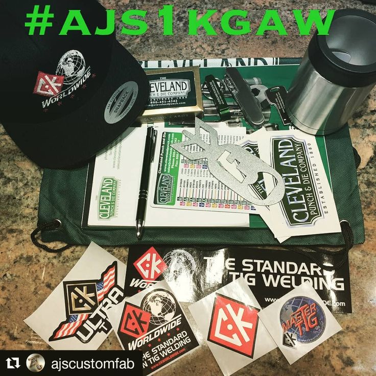 Congratulations  on the 1K mark!!! Check it out @largetimefab @richardsonwelding @dustinlwooley  #Repost @ajscustomfab (@get_repost)  So here we go I got everything put together for my #ajs1kgaw I told yall Id be doing. Ended up with a bunch of stuff and decided to split it up into 5 winners. Had a lot of awesome companies and fellow welders send me stuff to include. Yall are some lucky sobs is all I got to say... Rules are as follows... Follow these pages.. @ajscustomfab @jkwelding.fab…