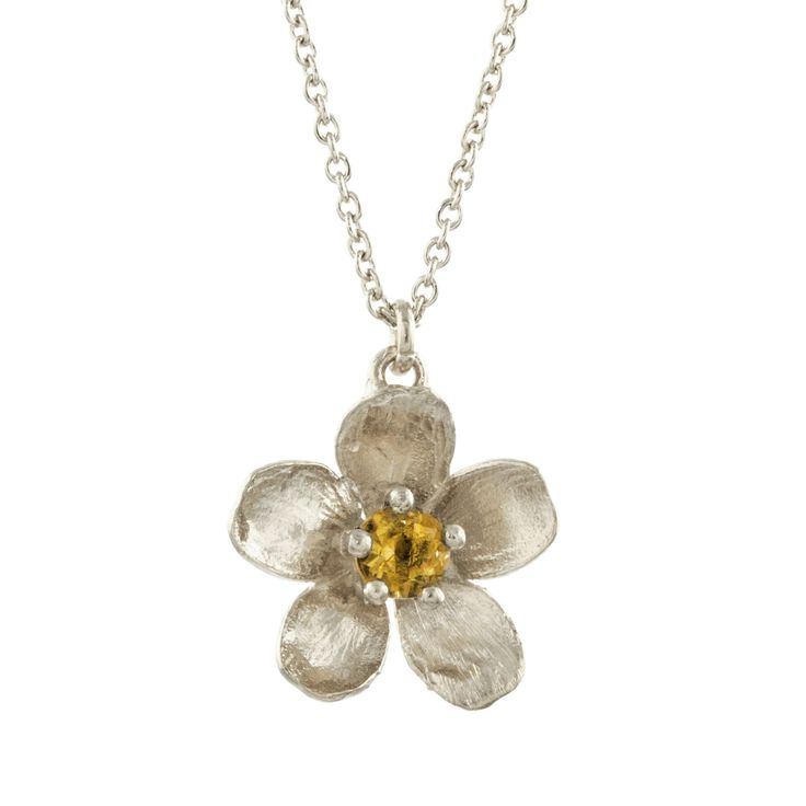 Citrine Buttercup Necklace, Alex Monroe
