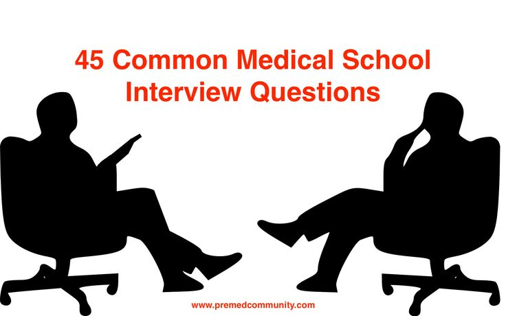 List of 45 Common Medical School Interview Questions. Plus free download.