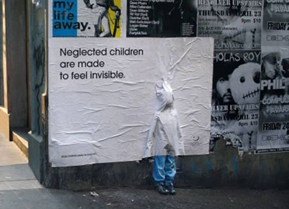 old guerrilla campaign by Australian Childhood Foundation
