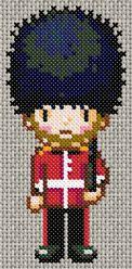 British soldier cross-stitch