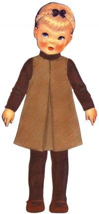 Eliette : robe chasuble trapèze à pli creux sur le devant, de Citronille