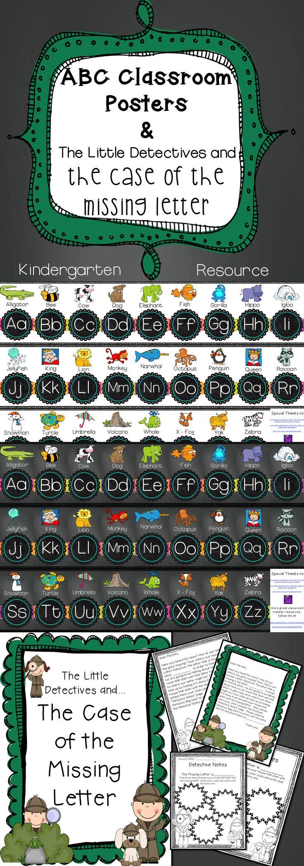 alphabet posters letter recognition activity. Black Bedroom Furniture Sets. Home Design Ideas