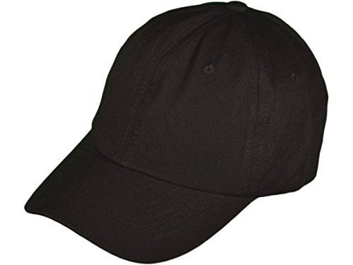 844e3efd8f9 Unstructured Cotton Blank Polo Baseball Dad Hats With Brass Buckle (Black)