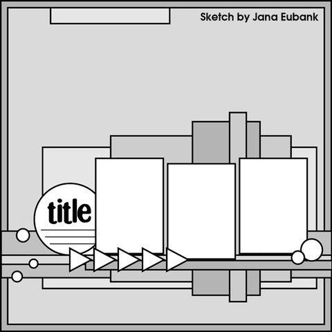 Jana Eubank sketch. #scrapbooking #scrapbook #layouts #sketches #templates