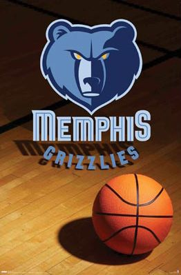 Memphis Grizzlies Official Team Logo Poster - Costacos