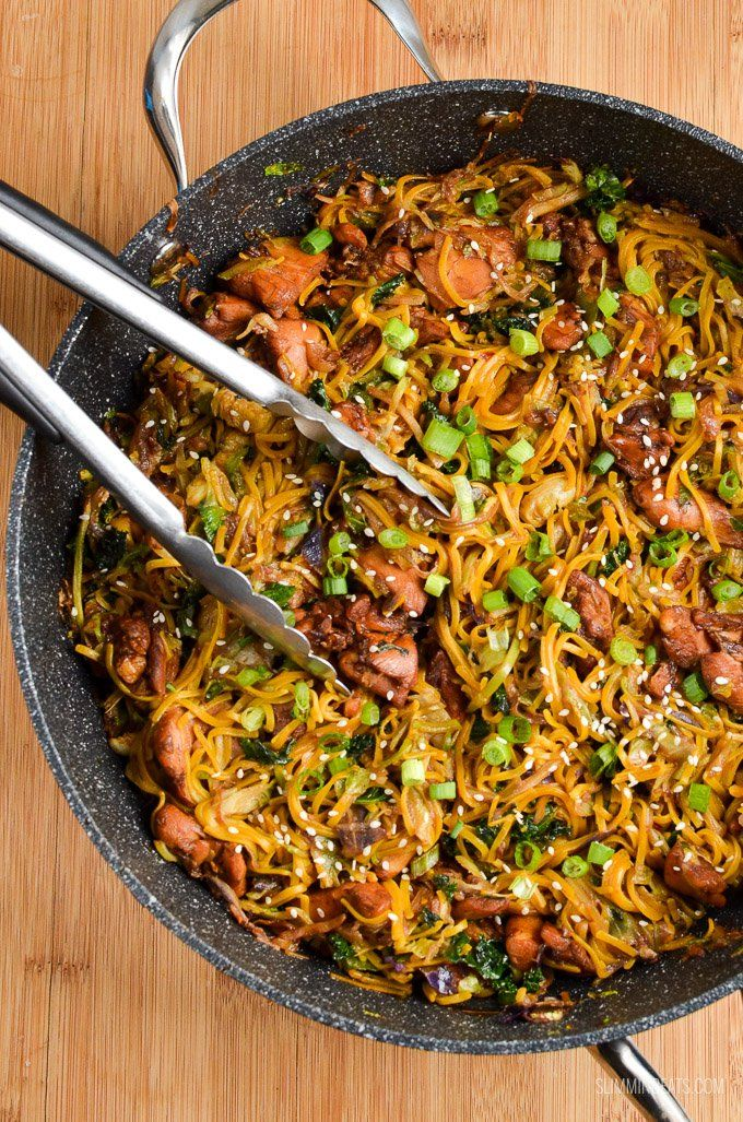 A quick to make Asian Chicken with Noodles - perfect for when you need to make dinner in a short space of time.