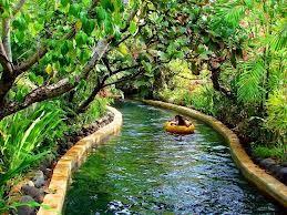 tropische achtertuin zwembad met glijbaan - Google zoeken