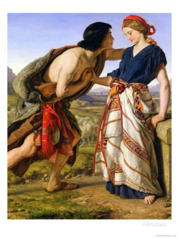 The Meeting of Jacob and Rachel, 1853 Giclee Print by William Dyce - AllPosters.co.uk
