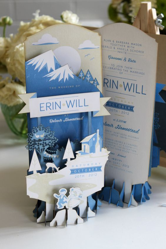 Beautiful cut out invitation