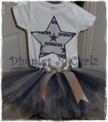 Custom Dallas Cowboys Tutu Set by DimplesNCurlz1 for $40.00