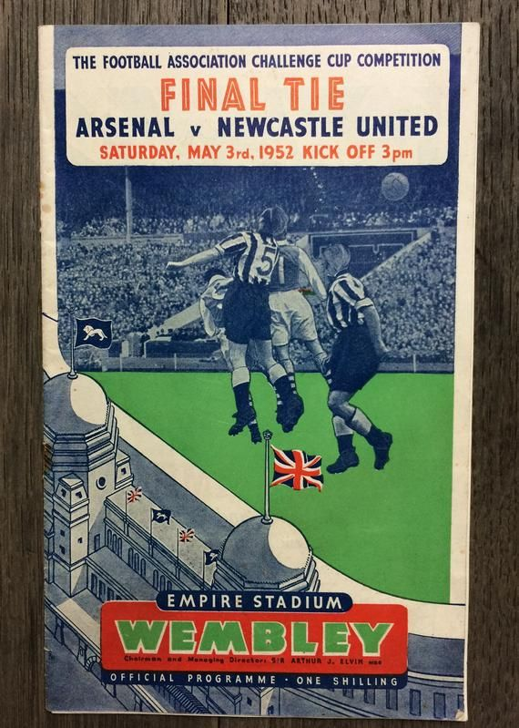 Perfect Gift For Him 1952 Fa Cup Final Arsenal V Newcastle United Football Programme Perfect Birthday Or Christmas Gift Idea For Him In 2020 Newcastle United Fa Cup Final Newcastle United Football