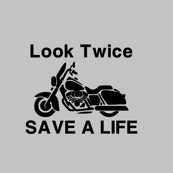 Details About Motorcycle Awareness Safety Look Twice Save A Life