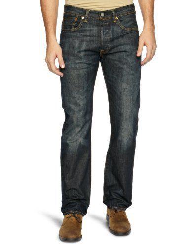 Levi's – 501 Original Straight Fit – Jeans – Droit – Homme – Bleu (DUSTY BLACK 0039) – W32/L32: Tweet Levi's 501 Dusty Black Jeans Droite…