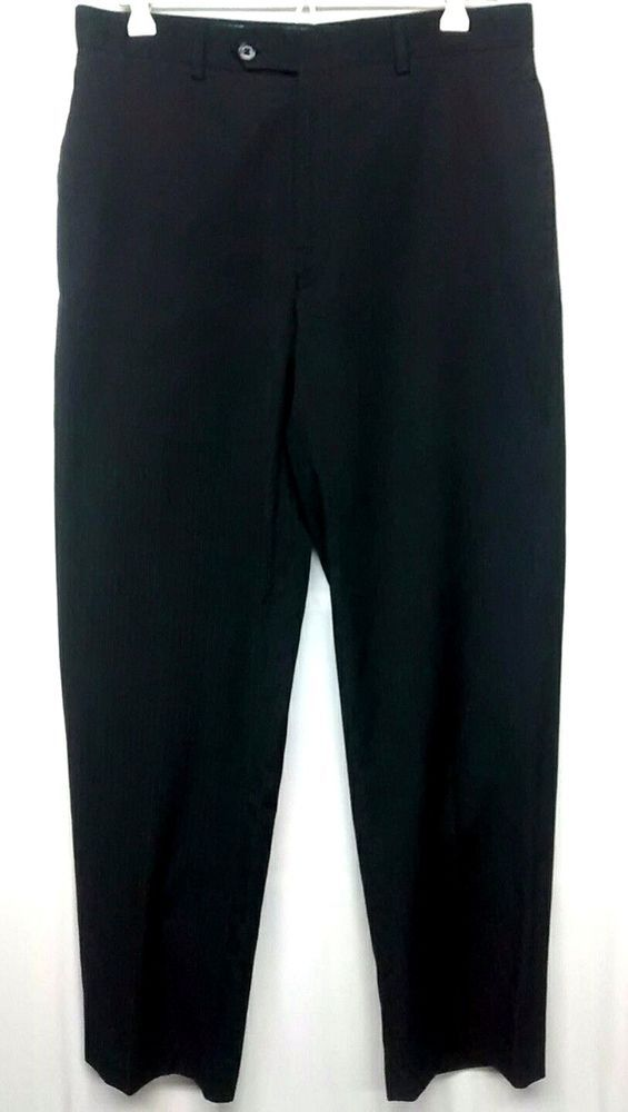 Joseph Abboud Mens  Dress Pants W 32 X 32 L Black Pin Stripe Slacks Formal Wear | Clothing, Shoes & Accessories, Men's Clothing, Pants | eBay!