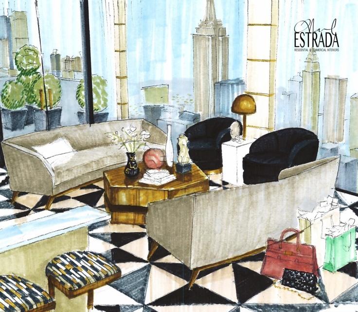 My Living room rendering for residential design - Wintour Residence #renderings…