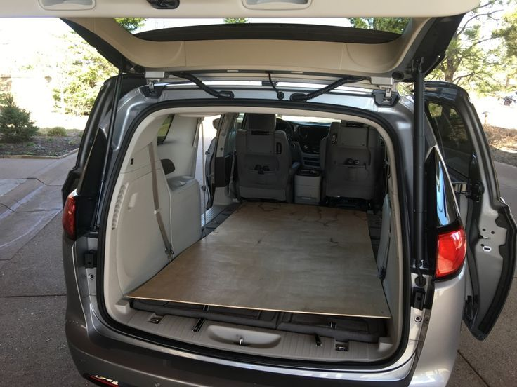 2017 Chrysler Pacifica interior with 4x8 plywood ...