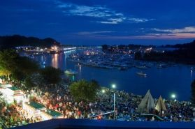 Downtown Grand Haven's waterfront during Coast Guard Festival - Grand Haven, Michigan