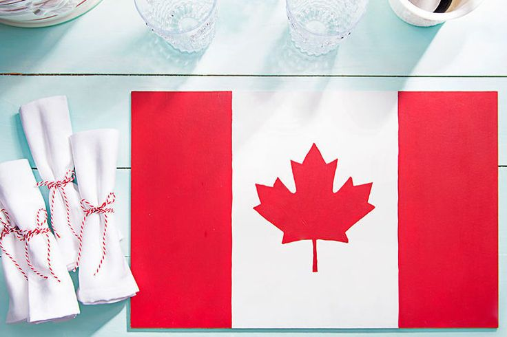 Show your national pride on Canada Day by DIYing these party-perfect flag-inspired placemats!