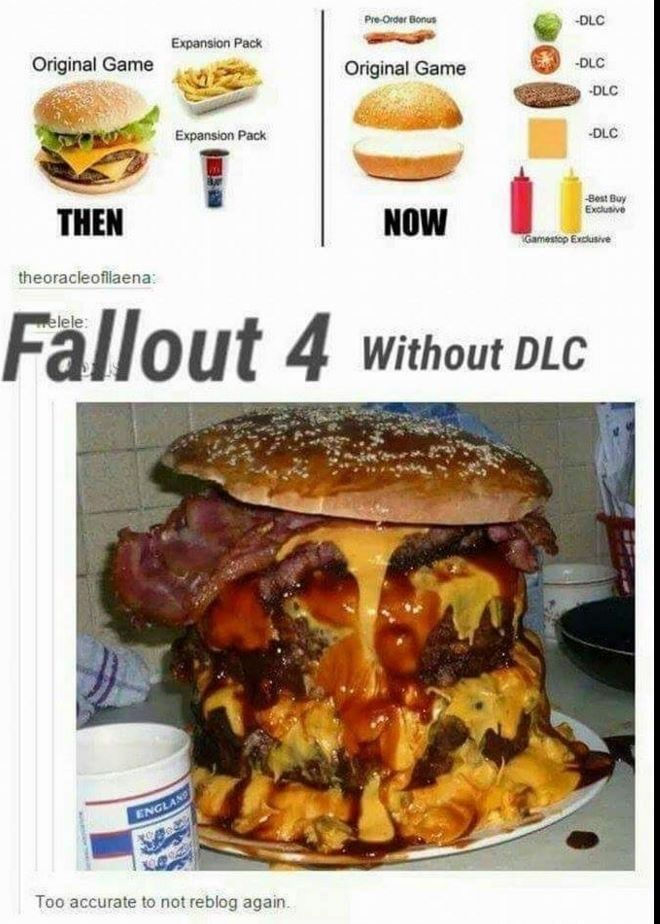 Exactly. And the Fallout 4 DLC is like getting milkshake for desert.