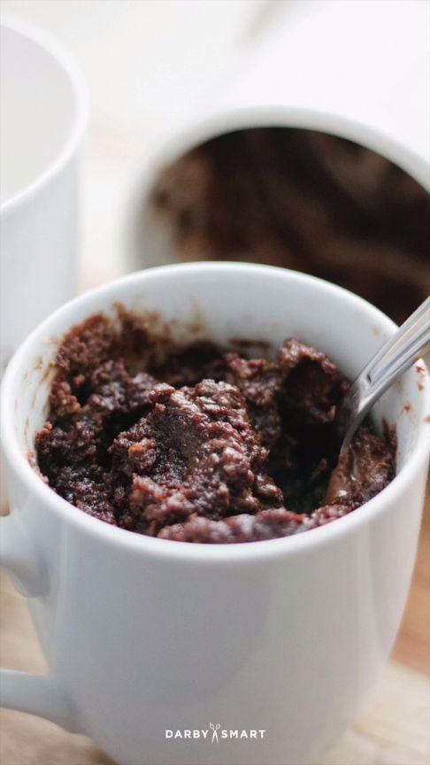3 Minute Microwave Mug Brownie Recipe with Nutella