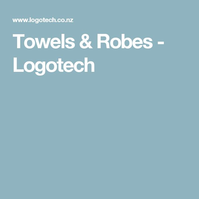 Towels & Robes - Logotech