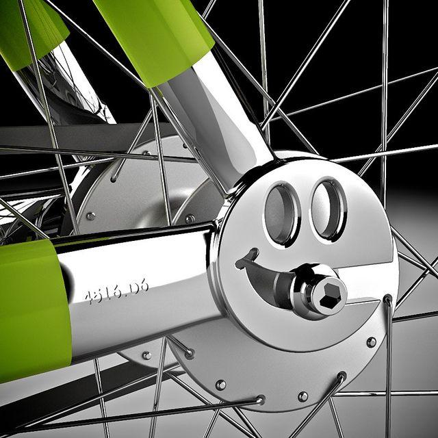 Smiley Drop by bamboozledbren, via Flickr: Rendering.  #Bicycle #Fixed_Gear #Concept_Design #bamboozleldlbren