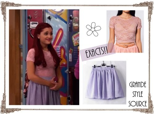 """Cats outfit in the new episode """"Opposite Date"""" {Requested}  Exact:Stretch Floral Lace Crop Top at AA 