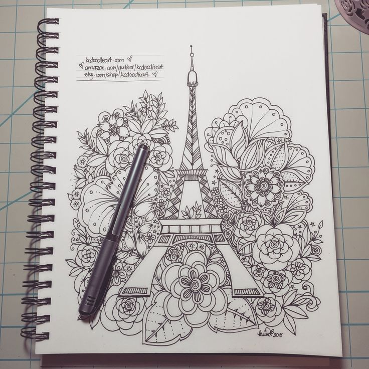 X2 speed sort of slow doodling as requested eiffel tower zentangle patterns pinterest