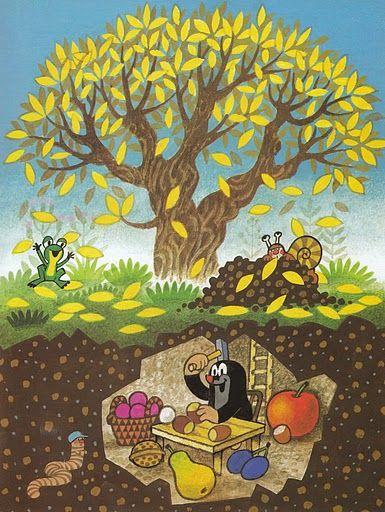 krtek - jeseň