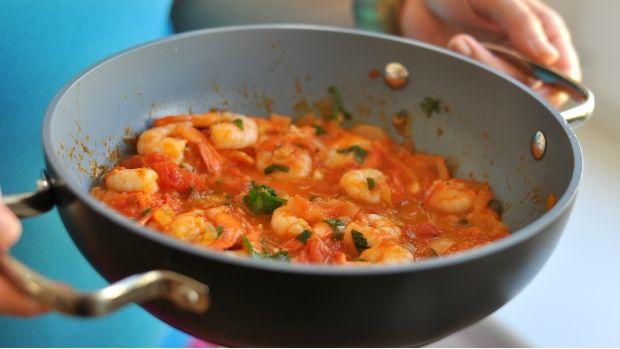 Krevety v pikantní omáčce  Foto: