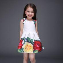 2016 nové jarní a letní oděvy dívky princezna šaty vytištěny šaty high-grade vysoká kvalita dívka tutu večírek (Čína (pevninská část))