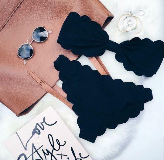 Scalloped Black Bikini - Apply code DREAM10 for 10% off + Free Shipping #bikini #swimwear