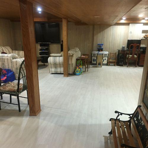 Beautiful White Powder On Basement Floor