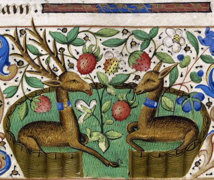 stag and doe Katherine Hours, France ca. 1480-1485 LA, The J. Paul Getty Museum, Ms. 6, fol. 27r