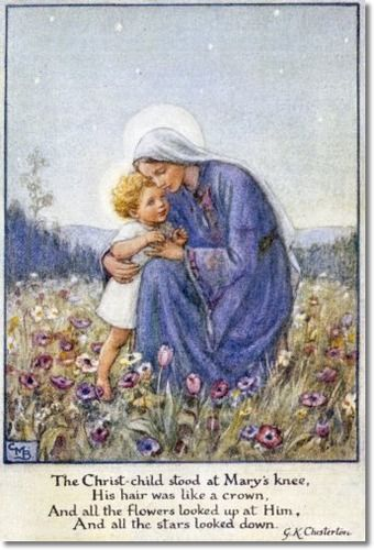Cicely Mary Barker - Religious Works - Christmas Card Design for GFS 1932 Painting